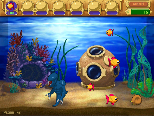 1. Insaniquarium! Deluxe juego captura de pantalla